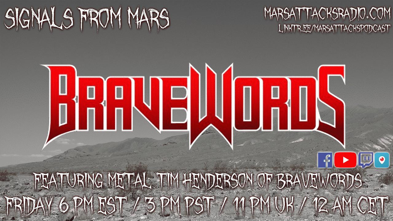 "Bravewords ""Metal"" Tim Henderson Signals From Mars Livestream"