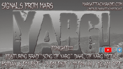 Son Of Yarg Signals From Mars August 13, 2021 Yarg Metal
