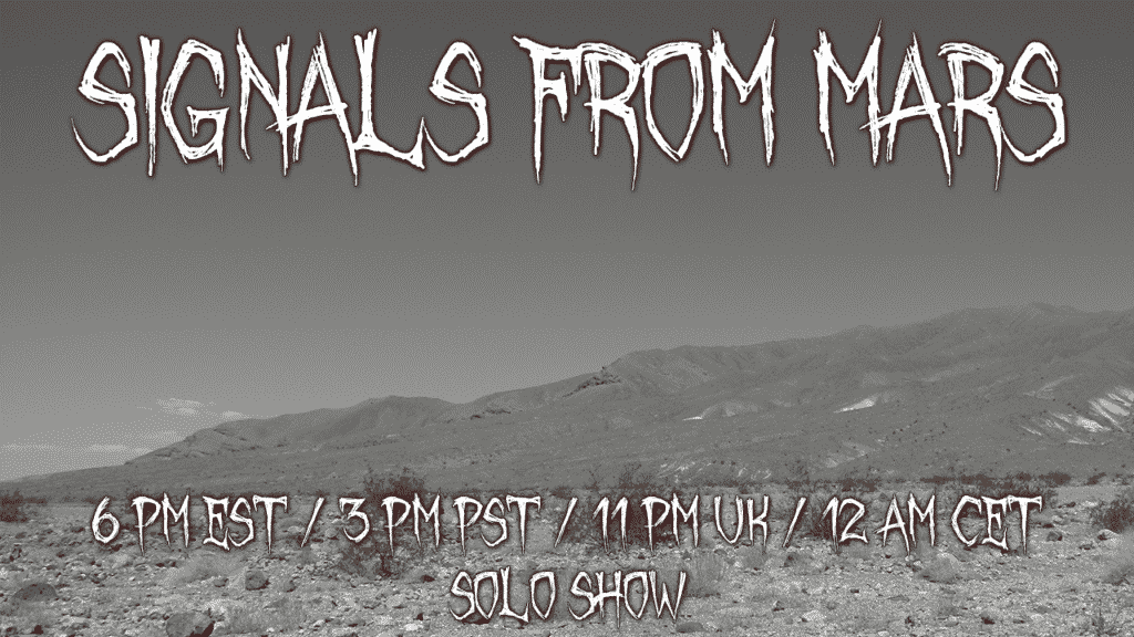 Signals From Mars September 24, 2021 Solo Show